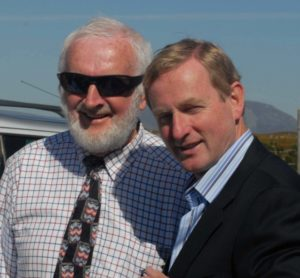 Roundstone Show Chairman Paddy McDonagh with Deputy Enda Kenny.T.D. Leader of Fine Gael, who opened the All Ireland Champion of Champions Connemara Pony show